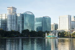 Lake Eola Park. In Orlando, Florida in the Early Morning Royalty Free Stock Photography