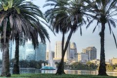 Lake Eola Park. In Orlando, Florida in the Early Morning Stock Image