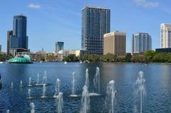 Lake Eola Park and Orlando Skyline Royalty Free Stock Photos