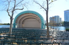 Lake Eola Park - Walt Disney Amphitheater Royalty Free Stock Photos