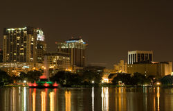 Lake Eola & Skyline Orlando FL stock photo