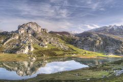 Lake Ercina Royalty Free Stock Image