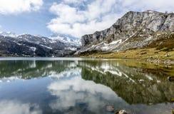 Lake Ercina Covadfonga, Spain Stock Image