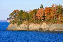 Lake Erie Cliffs in Autumn Stock Photo