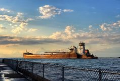 Lake Erie freighter Royalty Free Stock Photos