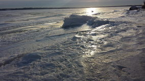 Lake Erie. Ice on lake Erie Royalty Free Stock Photo