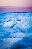 Lake Erie Ice Flow Royalty Free Stock Photos