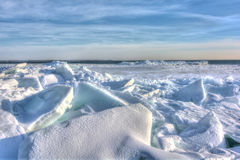 Lake Erie Ice Royalty Free Stock Photography