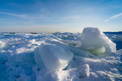 Lake Erie Ice Royalty Free Stock Images