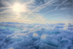 Lake Erie Ice Sunrise Royalty Free Stock Photo
