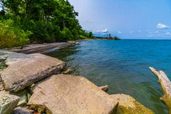 Lake Erie kustlinje, Ohio royaltyfri fotografi