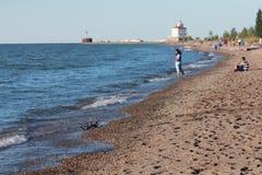 Lake Erie's Cleveland Coast Stock Photos