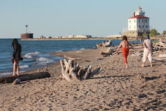 Lake Erie's Cleveland Coast in North America Royalty Free Stock Photos