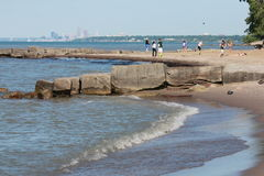 Lake Erie's Cleveland Coast in North America Royalty Free Stock Images