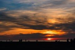 Lake Erie solnedgång Royaltyfria Bilder