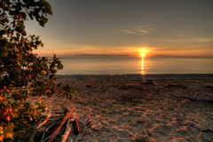 Lake Erie soluppgång Royaltyfri Foto