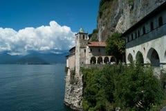 Lake. Ermitage of santa caterina del sasso Stock Image