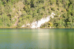 Lake Esmeralda in the Lagunas de Montebello National Park Chiapa. Serene landscape of the lake Esmeralda in the Lagunas de Montebello National Park Chiapas Stock Image