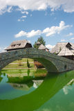 Lake in ethno village Royalty Free Stock Images