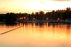 Lake during the evening Royalty Free Stock Photography