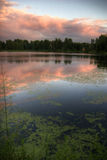 Lake in evening. Landscape with lake on sunset stock photography