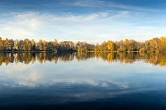 Lake at evening in autumn Royalty Free Stock Photo