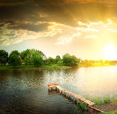 Lake in the evening Royalty Free Stock Images
