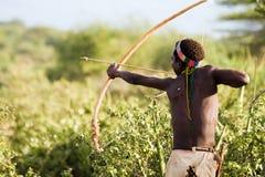 Obygdsbo Hadzabe Royaltyfri Bild