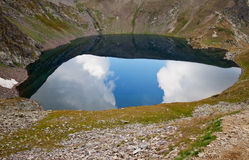 Lake the eye, rila, bulgaria. The eye, one of the seven rila mountains lakes in bulgaria Stock Photo