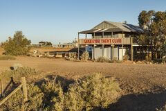 Free Lake Eyre Yacht Club Marree Australia On Sunset Stock Photos - 175075973