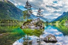 lake för bavariagermany hintersee arkivfoto