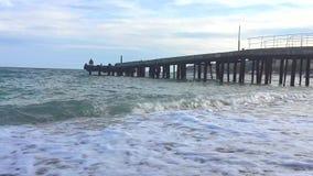 lake för kustaftonfiskare arkivfilmer