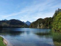 Lake in Füssen. Bavarian Mountains - Germany Royalty Free Stock Images