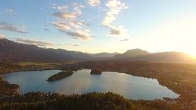 Lake Faaker See in Carinthia, Austria stock video footage