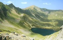 Lake in Fagaras mountains Stock Photo