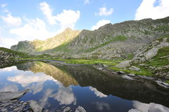 Lake in the Fagaras mountains, Romania Royalty Free Stock Image