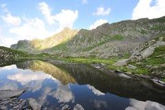 Lake in the Fagaras mountains, Romania Royalty Free Stock Image