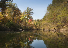 Lake and fall foliage in Southwest Missouri Royalty Free Stock Photography