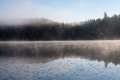 Lake in the fall forest, Canada. Lake in the fall forest Stock Photo