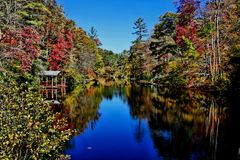 Lake in the fall Stock Photos