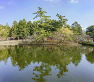 Lake in the famous and historical TodaiJi of Nara Park Royalty Free Stock Images