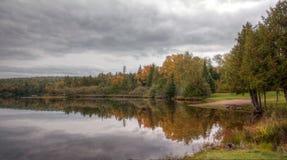 Lake Fanny Hooe. Reflections Copper Harbor Michigan stock photography