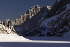 Lake Fedaia in the Dolomites, Val di Fassa Stock Image