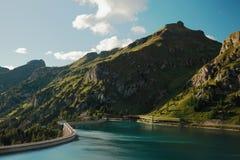Lake Fedaia Stock Photo