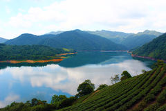 Lake. Feitsui reservoir at Shiding Dist Stock Photo