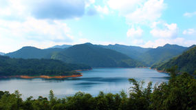 Lake. Feitsui reservoir at Shiding Dist Royalty Free Stock Photos