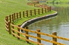Lake fence Royalty Free Stock Photos