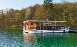 Lake ferry boats station. In Plitvice national park, Croatia Stock Image