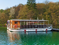 Lake ferry boats station in Plitvice Royalty Free Stock Photo