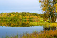 Lake in Finland Stock Photo
